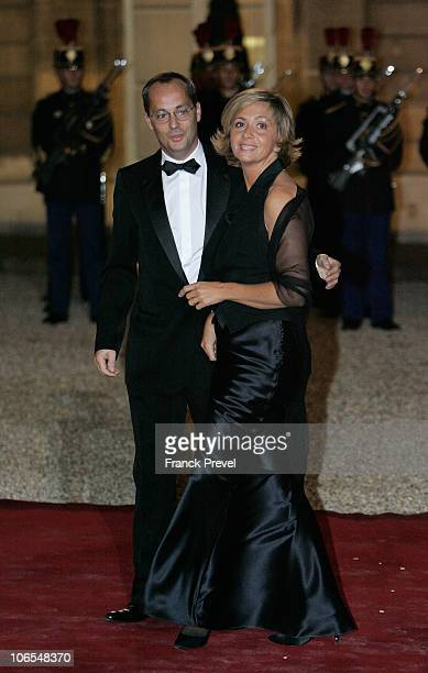 French Higher education and research Minister Valerie Pecresse with her husband arrive to attend a state dinner honouring visiting Chinese President...