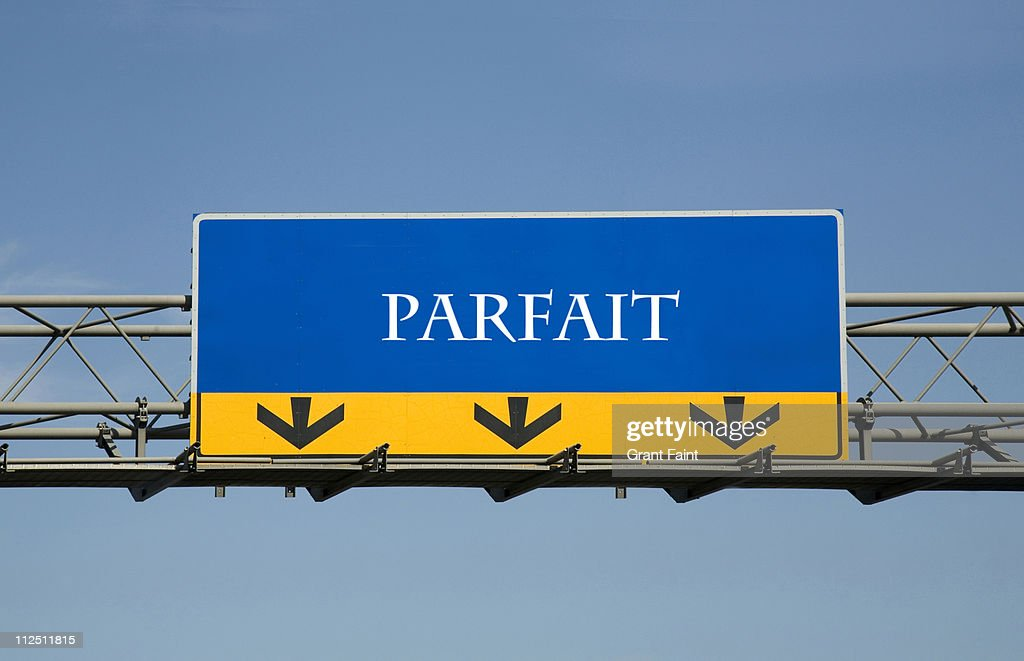 French highway signage : Stock Photo