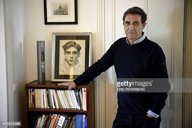 French historian and political scientist Emmanuel Todd author of the book 'Qui est Charlie' poses at his home in Paris on May 7 2015 AFP PHOTO / ERIC...