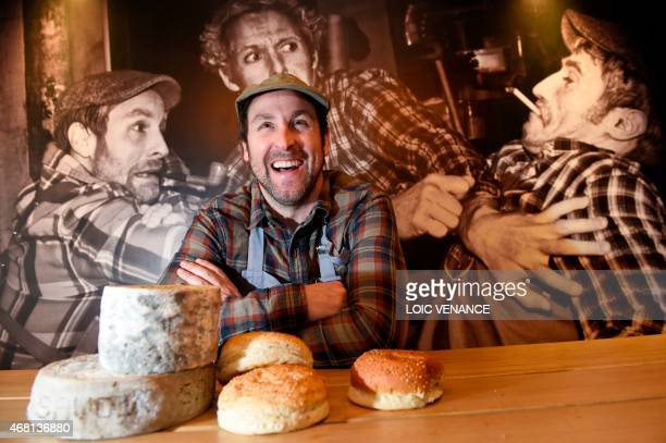 French holder and co founding member of the chain of fast food restaurants Big Fernand Steve Burgraf poses in one of the restaurants on March 30 2015...