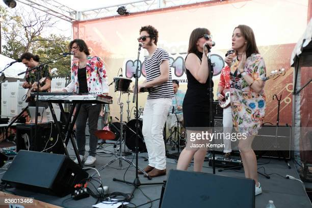 French Horn Rebellion performs during Day Two of 2017 Billboard Hot 100 Festival at Northwell Health at Jones Beach Theater on August 20 2017 in...