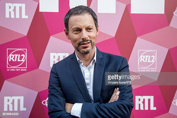 French host and producer of television and radio Marc Olivier Fogiel attends a press conference of RTL radio which announces its 2016/2017 schedule...