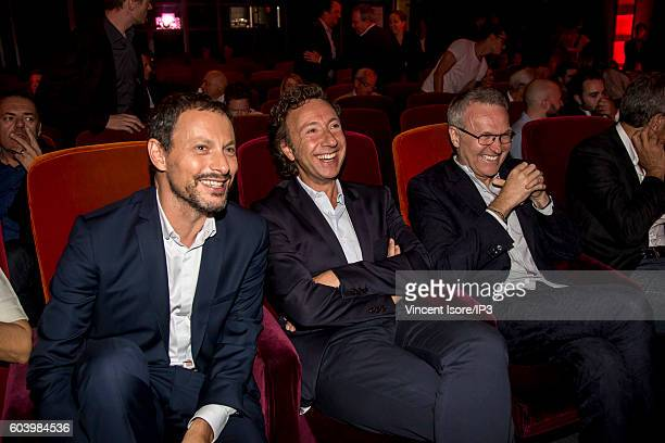 French host and producer of television and radio Marc Olivier Fogiel French journalist radio host television presenter and writer Stephane Bern and...