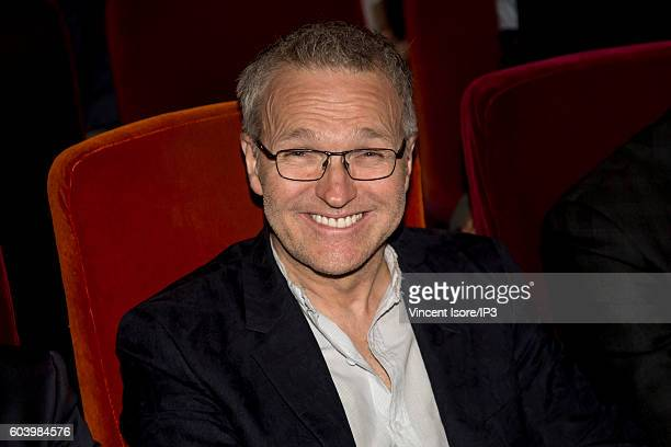 French host of TV and radio television producer and theater and comedian Laurent Ruquier attends a press conference of RTL radio which announces its...