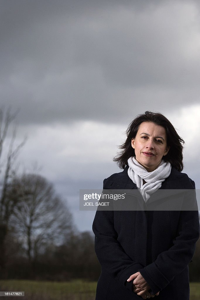 French Housing and Territories equality minister Cecile Duflot is pictured on February 11, 2013 in Bruere-Allichamps, central France, during a visit on the subject of the equality between territories.