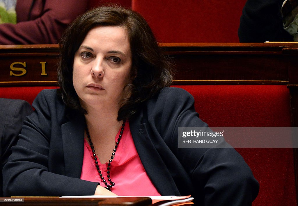 French Housing Minister Emmanuelle Cosse looks on as she attends a session of questions to the Government at the French National Assembly in Paris, on May 31, 2016.