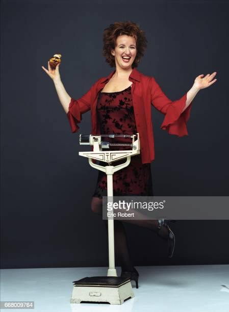 French humorist and actress Anne Roumanoff