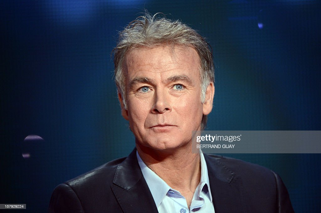 French humorist and godfather Franck Dubosc attends the 26th Telethon, France's biggest annual fund-raising event during 30 hours of live television transmission, on December 7, 2012 in Saint-Denis, north of Paris. The event, aiming at collecting funds for research on genetic diseases such as myopathy, a neuromuscular disease, will take place on December 7 and 8, 2012.