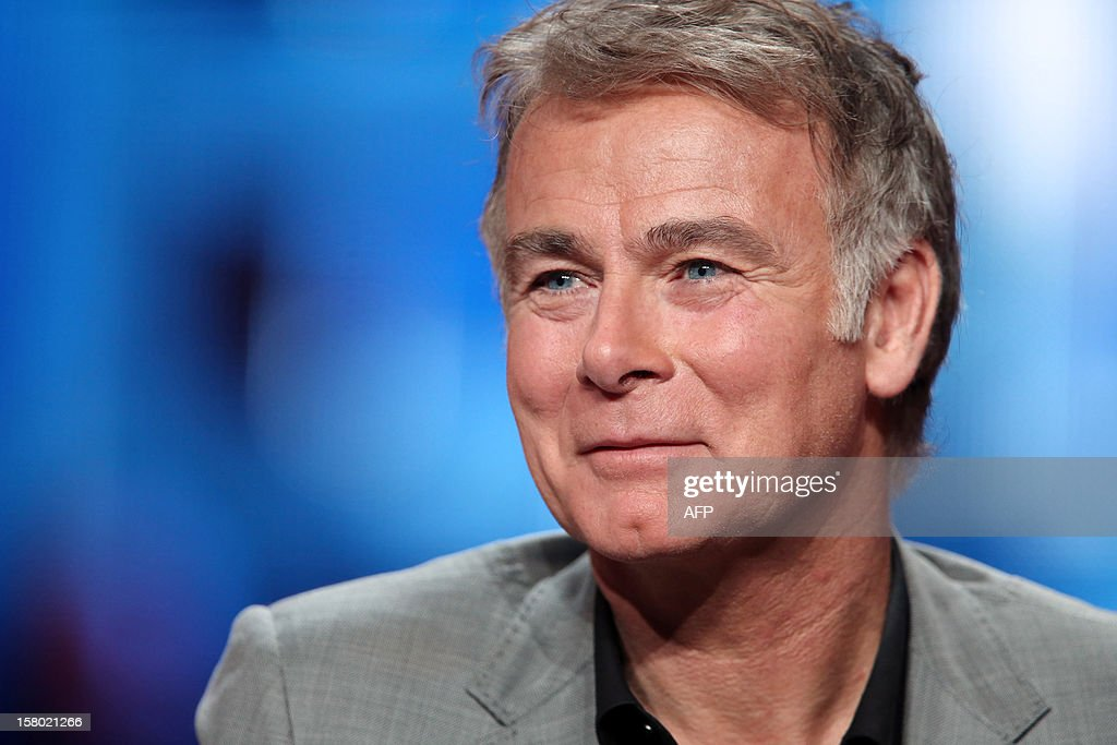 French humorist and godfather of the 2012 Telethon's edition, Franck Dubosc smiles during the 26th Telethon, France's biggest annual fund-raising event carried out over 30 hours of live television transmission, on December 8, 2012 in Saint-Denis, north of Paris. The event aims at collecting funds for research on genetic diseases such as myopathy, a neuromuscular disease.
