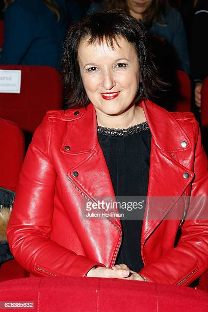 French Humorist Anne Roumanoff attends the Nikos Aliagas Wax Work Unveiling at Musee Grevin In Paris at Musee Grevin on December 7 2016 in Paris...