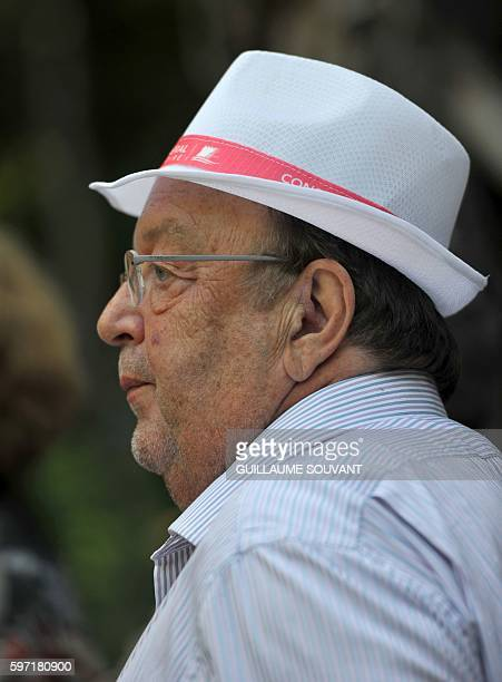 French humorist Bernard Mabille looks on during the 21th book fair La Foret Des Livres on August 28 2016 in ChanceauxprèsLoches central France / AFP...
