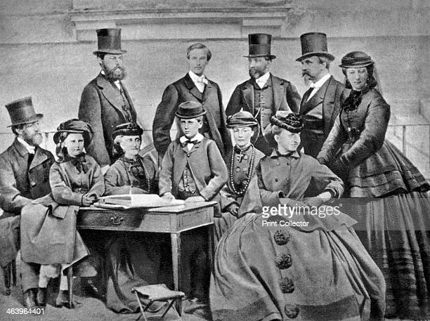 French Imperial Family 1866 Napoleon III the Empress Eugenie and their family Napoleon III became Emperor in 1852 A photograph from Album de...