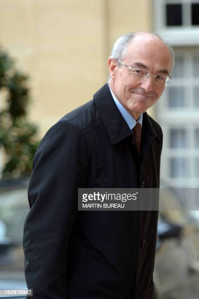 French industrial gas group Air Liquide chief executive Benoit Potier arrives at the Hotel Matigon in Paris before a meeting focused on French...