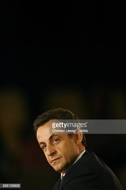 French Interior Minister and UMP leader Nicolas Sarkozy attends the UMP miniparty forum