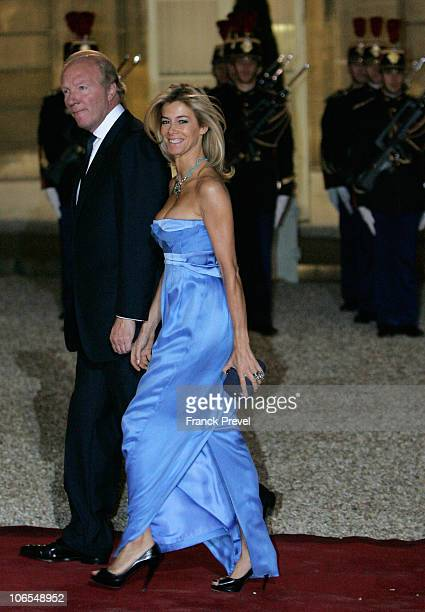 French Interior Minister Brice Hortefeux with his wife Valerie arrive to attend a state dinner honouring visiting Chinese President Hu Jintao at...