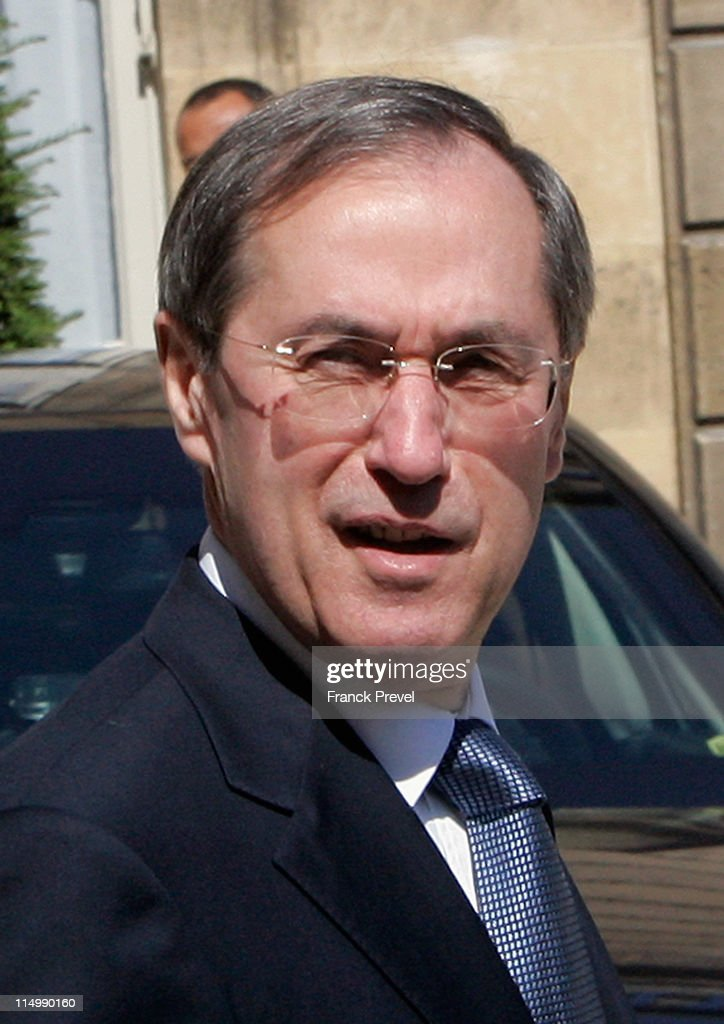 French Interior minister <a gi-track='captionPersonalityLinkClicked' href=/galleries/search?phrase=Claude+Gueant&family=editorial&specificpeople=861764 ng-click='$event.stopPropagation()'>Claude Gueant</a> leaves the weekly cabinet meeting at Elysee Palace on June 1, 2011 in Paris, France.