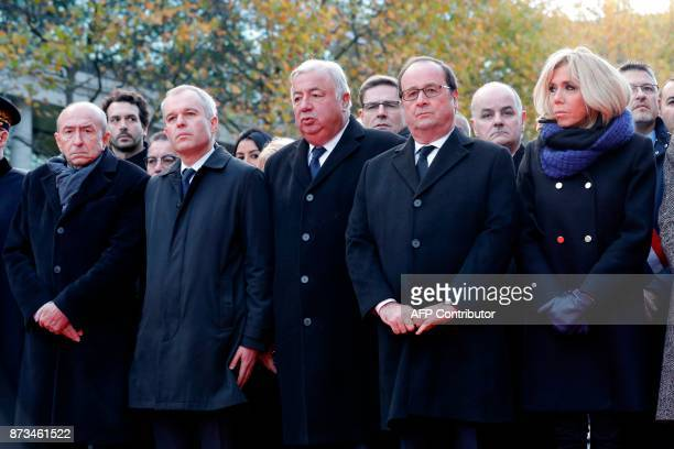 French Interior Minister Gerard Collomb French National Assembly speaker Francois de Rugy French Senate speaker Gerard Larcher former French...