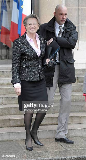 French Interior Minister Michele AlliotMarie departs the weekly French cabinet meeting at the Elysee palace on December 17 2008 in Paris France