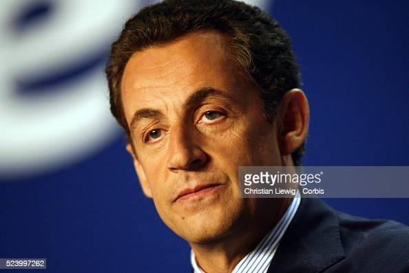 French Interior Minister Nicolas Sarkozy delivers his speech at the UMP party meeting entitled 'Reform to Build' in Paris Sarkozy said he would stay...