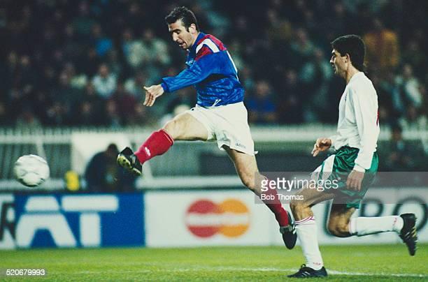 French international footballer Eric Cantona during the France v Bulgaria FIFA World Cup Qualifying Match Parc des Princes Paris France 17th November...
