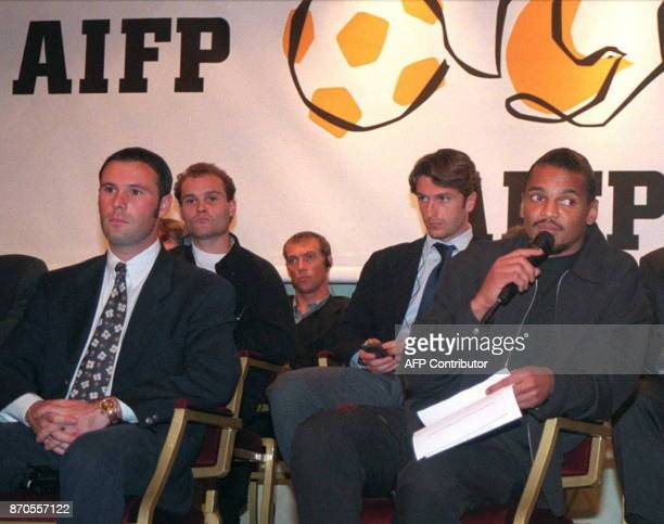 French international player and Paris SaintGermain goalkeeper Bernard Lama speaks during the first AIFP meeting 07 October The organization's...