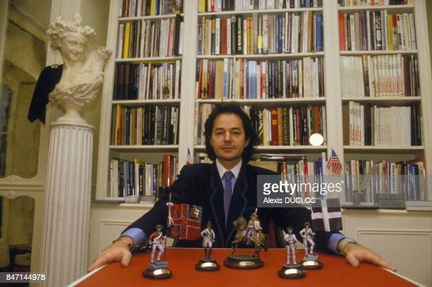 French journalist and author Gonzague Saint Bris at home on December 18 1985 in France