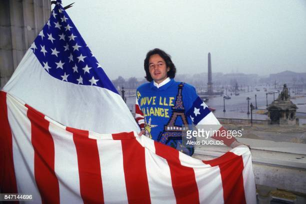 French journalist and author Gonzague Saint Bris launches 'La Nouvelle Alliance' a movement of FrenchAmerican friendship in February 1986 in Paris...