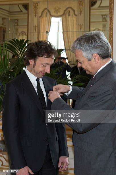 French journalist and author Stephane Bern is being appointed officer in the King Leopold order by Belgian Foreign Minister and Vice Prime Minister...