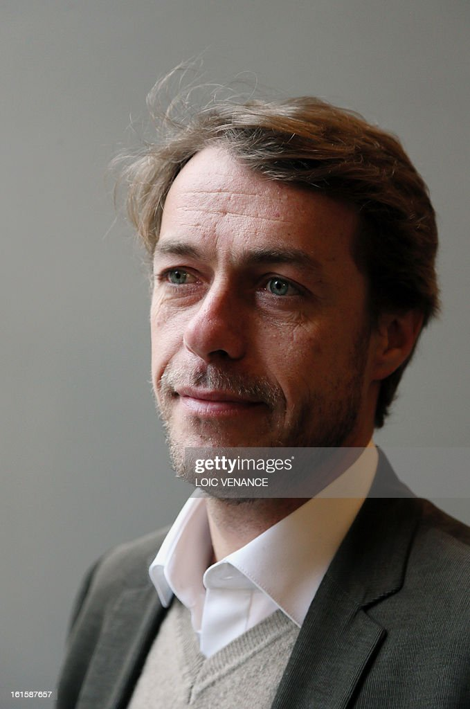 French journalist and documentary filmmaker Stephane Gabet attends a press conference in Paris on February 12, 2013, to present the reconstruction of the head of French King Henri IV (1553-1610). Gabet is at the start of the rediscovery of the skull. This reconstruction was made three years after a panel of forensic scientists identified the skull of the king who was murdered at the age of 57 on May 14, 1610, by a fanatic. Scientists headed by France's Philippe Charlier found a common genetic profile between the mummified head of Henri IV and dried blood from his descendant, Louis XVI.