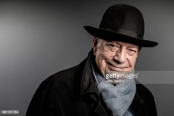 TOPSHOT French journalist and former president of the Conseil Superieur de l'Audiovisuel Herve Bourges poses during a photo session in Paris on May...