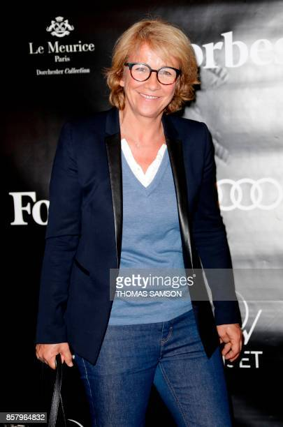 French journalist and television host Ariane Massenet attends the launch of Forbes Magazine France in Paris on October 5 2017 / AFP PHOTO / Thomas...