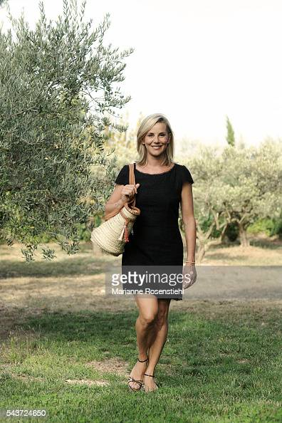French journalist and TV host Laurence Ferrari on holiday in Eygalières