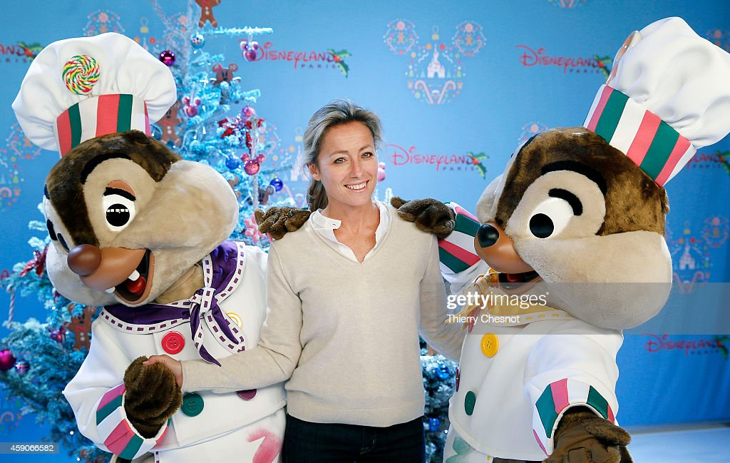 French journalist and TV presenter Anne Sophie Lapix attends the Christmas season launch at Disneyland Paris on November 15 2014 in Paris France