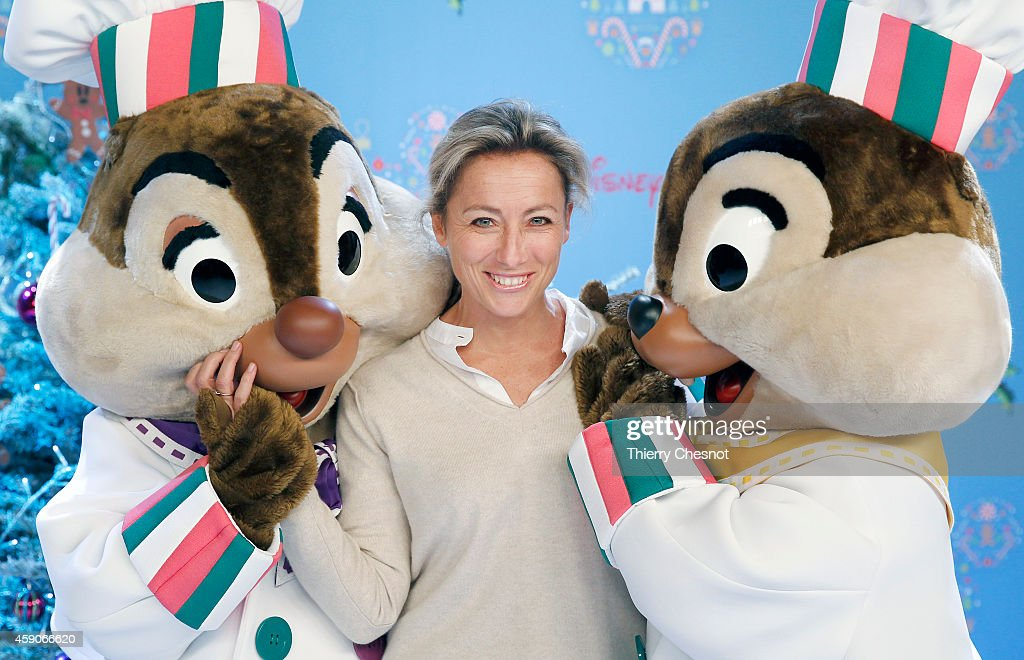 French journalist and TV presenter, Anne Sophie Lapix attends the Christmas season launch at Disneyland Paris on November 15, 2014 in Paris, France.