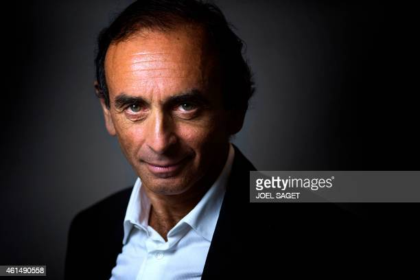 French journalist and writer Eric Zemmour poses at his office in Paris on January 12 2015 The polemicist and tv commentator's last book entitled 'Le...