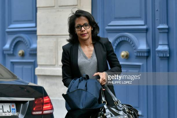 French journalist Audrey Pulvar arrives for a forum against abstention in Paris on May 5 two days ahead of the second round of the French...