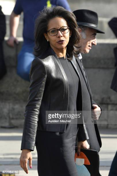 French journalist Audrey Pulvar attends the commemoration of the 102nd anniversary of The Armenian Genocide on April 24 2017 in Paris France 15...