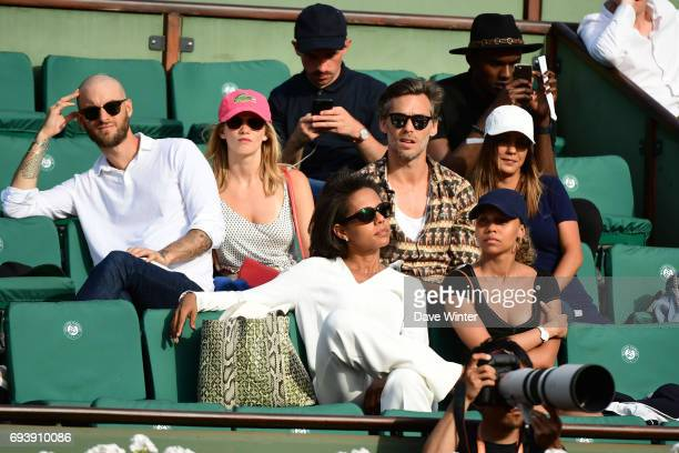 French journalist Audrey Pulvar during day 12 of the French Open at Roland Garros on June 8 2017 in Paris France