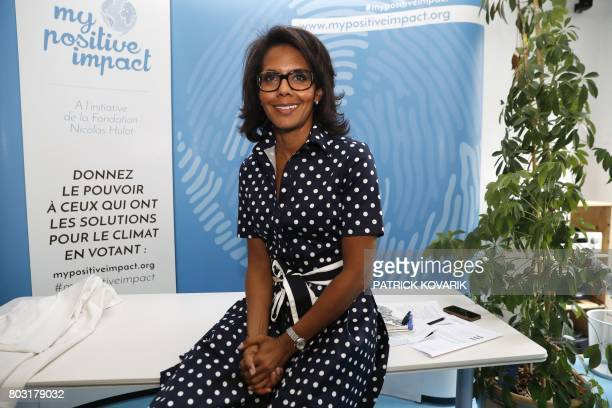 French journalist Audrey Pulvar is pictured within a press conference on June 29 2017 in BoulogneBillancourt a day after she was elected new...