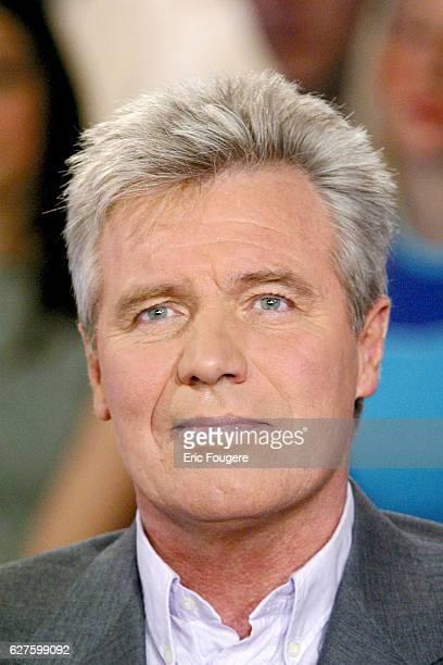 French journalist Bruno Masure invited at 'Vivement Dimanche' TV show presented by Michel Drucker