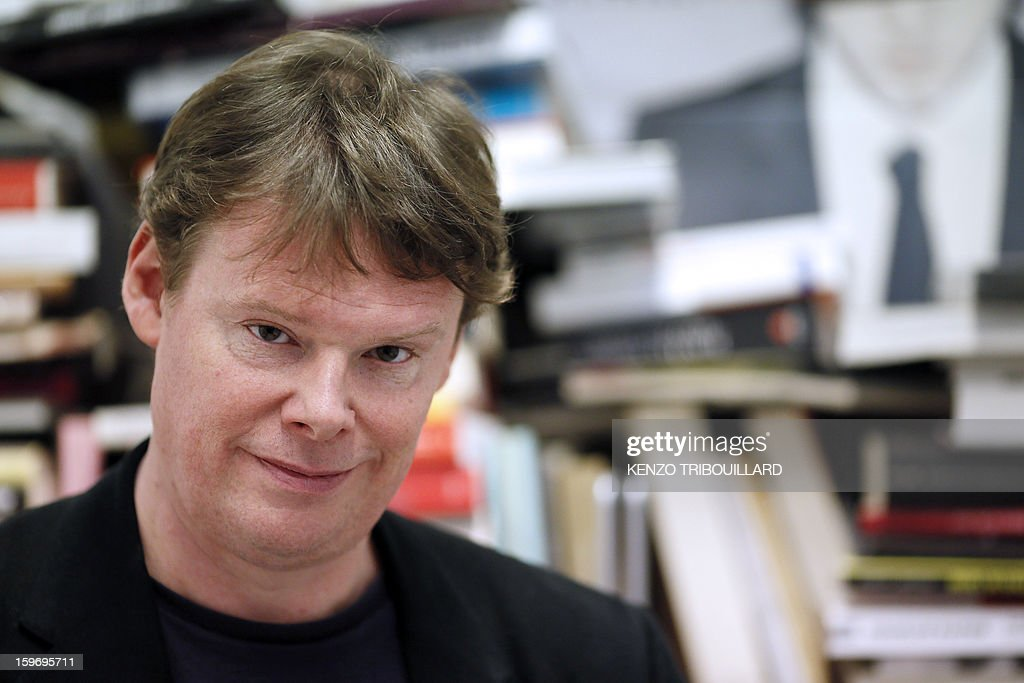 French journalist Frederic Bonnaud poses on January 18, 2013 at Les Inrockuptibles magazine headquarters in Paris after his nomination as general director of Les Inrockuptibles, a monthly cultural magazine.
