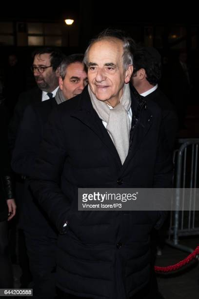 French Journalist Jean Pierre Elkabbach attends the traditional dinner of the Crif the representative council of the Jewish institutions of France in...