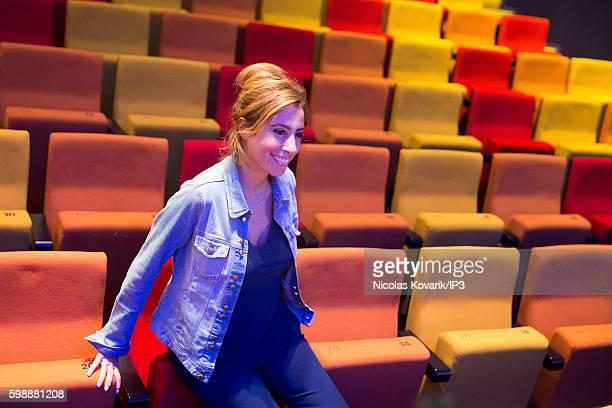 French Journalist Lea Salame holds a press conference of Radio France to present the new programs on August 31 2016 in Paris France