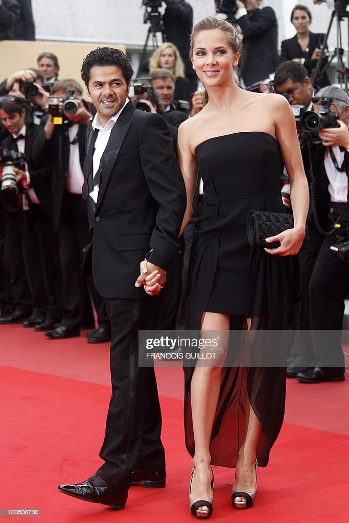 French journalist Melissa Theuriau and her husband French actor Jamel Debbouze arrive for the screening of 'Hors La Loi' (Outside of the Law) presented in competition at the 63rd Cannes Film Festival on May 21, 2010 in Cannes.