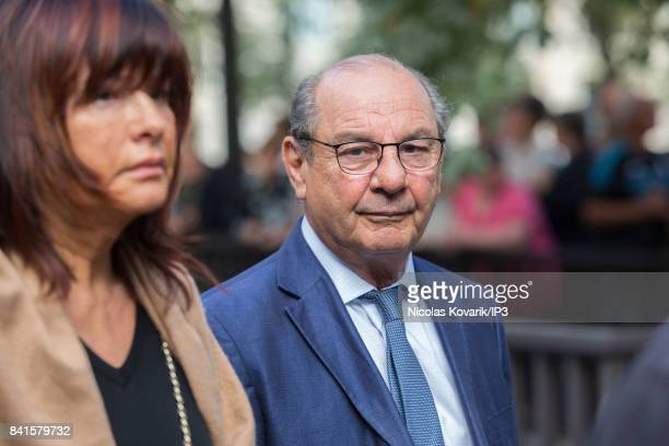 French Journalist Paul Nahon attends Mireille Darc's Funeral at Eglise Saint Sulpice on September 1 2017 in Paris France French actress died aged of...