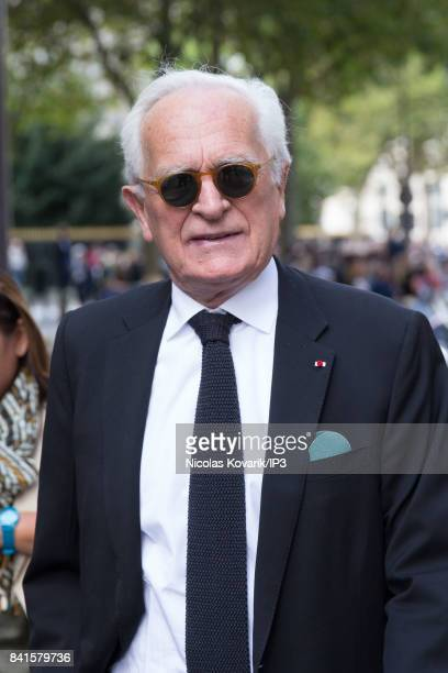 French journalist Philippe Labro attends Mireille Darc's Funeral at Eglise Saint Sulpice on September 1 2017 in Paris France French actress died aged...
