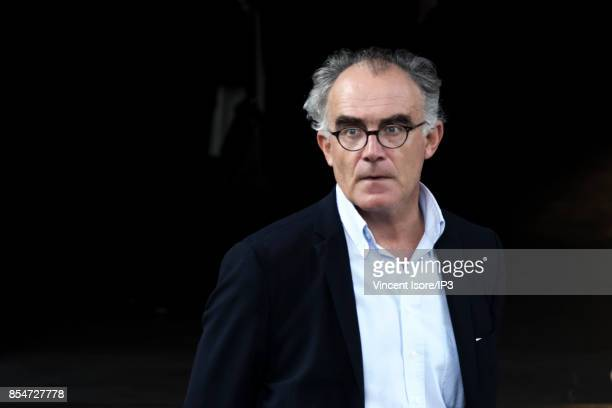 French Journalist Pierre Henri de Menthon attends the Liliane Bettencourt's funeral organized at the Saint Pierre Church on September 26 2017 in...