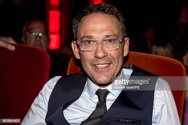 French journalist presenter and producer of television and radio Julien Courbet attends a press conference of RTL radio which announces its 2016/2017...