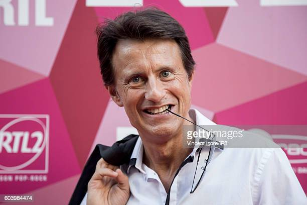 French journalist radio and television host Vincent Perrot attends a press conference of RTL radio which announces its 2016/2017 schedule on...