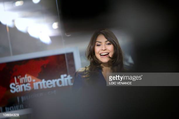 French journalist Sonia Chironi attends the 'L'info sans interdit' TV show on I Tele news channel on January 31 2011 in Paris AFP PHOTO LOIC VENANCE